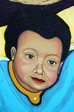 Portrait of Angel of Virgen of Guadalupe Mural