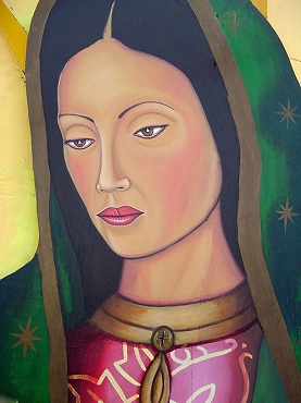 Portrait of Virgen de Guadalupe Mural