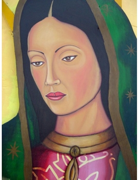 Santa Barraza - Portrait of Virgin Guadalupe - Unframed