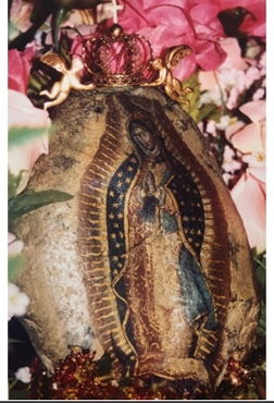 Gilbert & Berta Flores - Our Lady of Guadalupe on a Rock