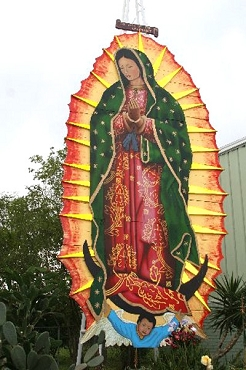 Photo of Virgen de Guadalupe Mural - Stretched