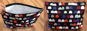 Gumdrop Spots zipper pouch without the logo